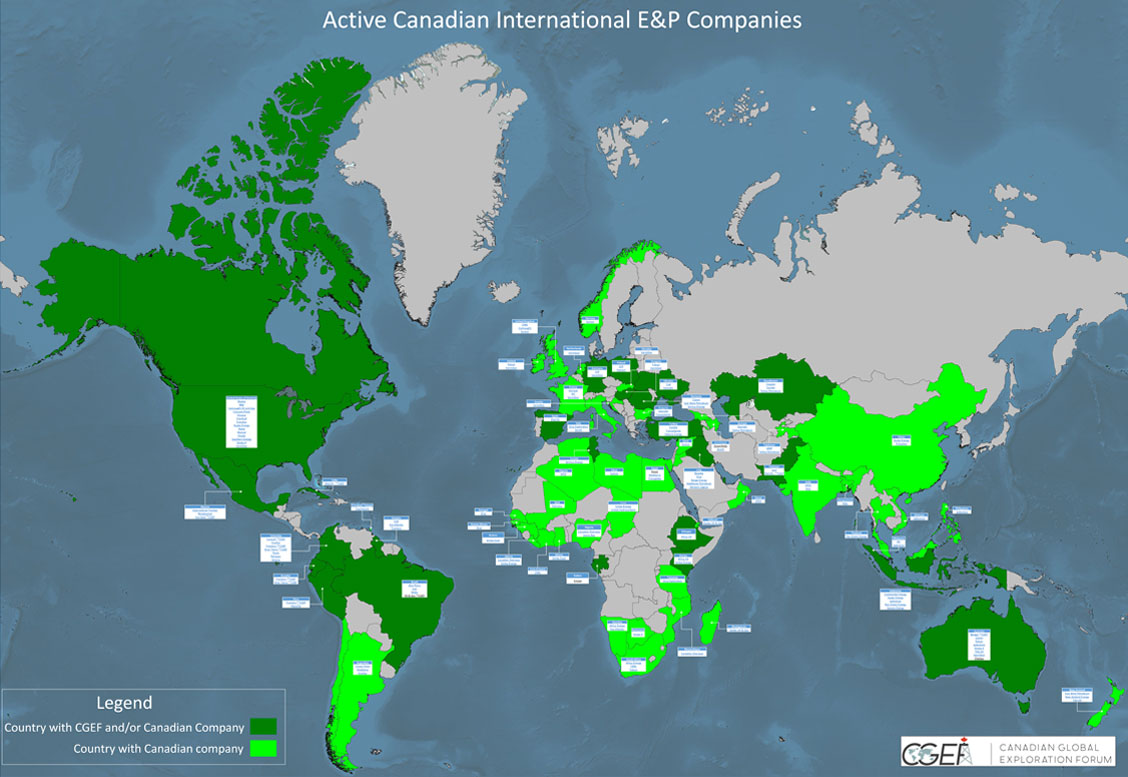 Active Canadian International E&P Companies